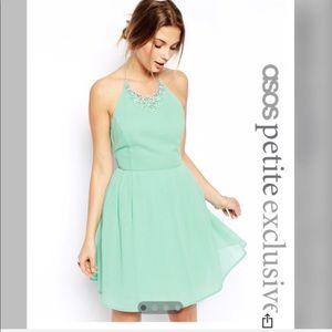 Asos petite mint dress